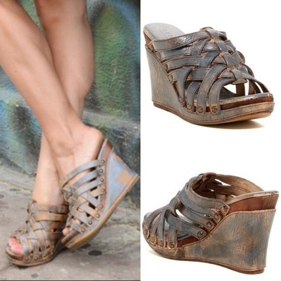 7e4ba736d97 Bed Stu Shoes - BED STU  Gina  Leather Wedge Sandals
